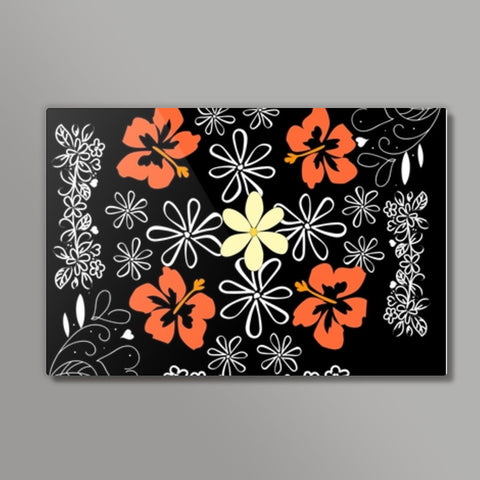 flowers all over Metal Prints | Artist : Pallavi Rawal