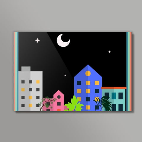 My city in the night Metal Prints | Artist : Pallavi Rawal