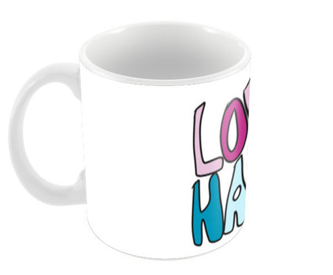 LOVE HARD Coffee Mugs | Artist : Shruti aggarwal