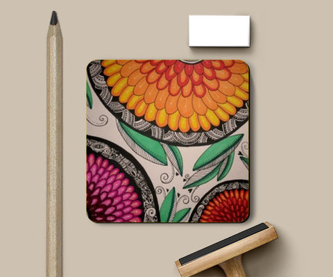 Full Bloom Coasters | Artist : Kathak Trivedi