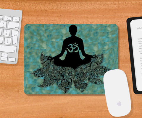 Yoga | Motivation | Zentangle | Mandala | Doodle Mousepad | Artist : Disha Kedia