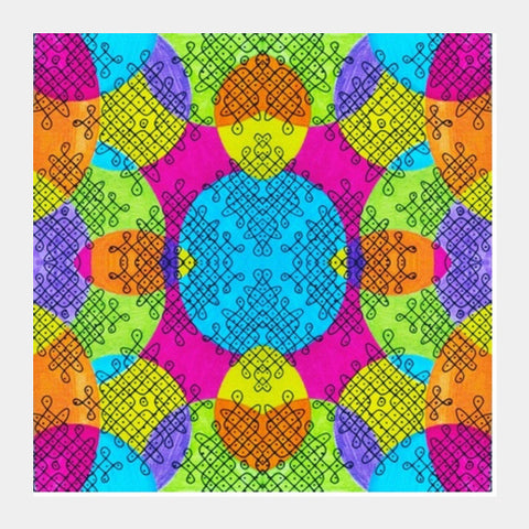Indian Twisties Square Art Prints PosterGully Specials