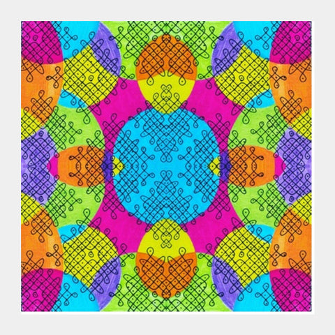 Indian twisties Square Art Prints | Artist : the unskilled artist