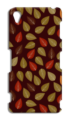 Seamless pattern with multicolored leaf on dark  Sony Xperia Z3 Cases | Artist : Designerchennai