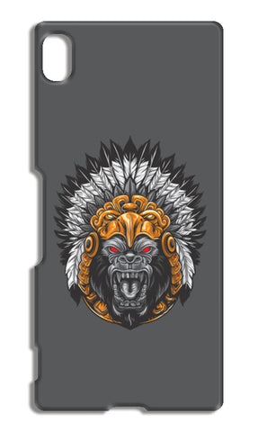 Gorilla Wearing Aztec Headdress Sony Xperia Z4 Cases | Artist : Inderpreet Singh