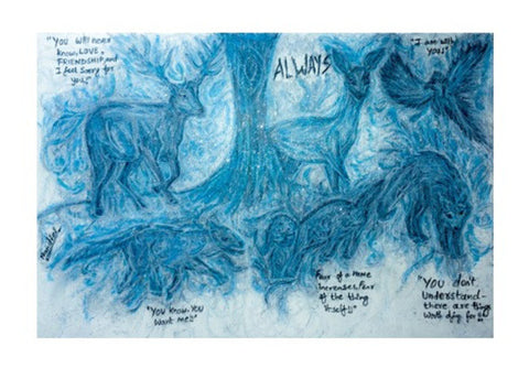 Harry Potter Patronus | Oil Pastel Art Wall Art  | Artist : Nandini Rawat
