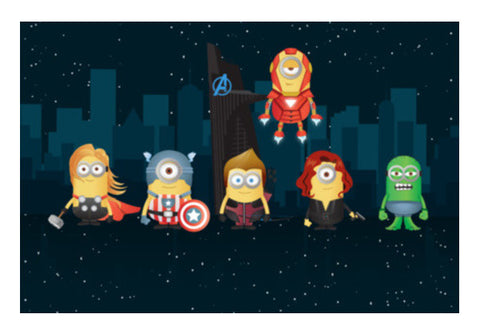 Wall Art, Minion Avengers Wall Art  | Artist : Ronak Mantri, - PosterGully