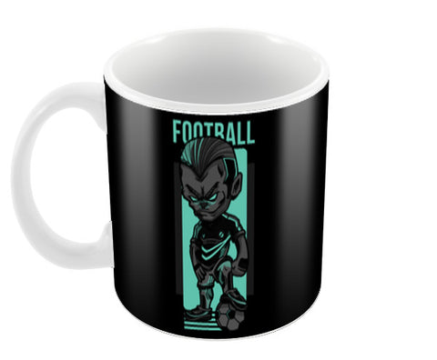 Angry Football Player | #Footballfan Coffee Mugs | Artist : Creative DJ