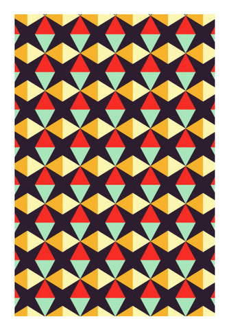 Geometric triangle subtle pattern Wall Art | Artist : Designerchennai