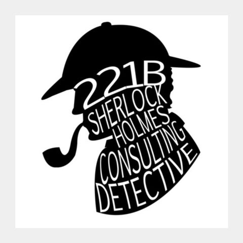 Sherlock Holmes, Consulting Detective Square Art Prints | Artist : An Aliens Art