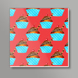 Cupcake Square Art Prints | Artist : Design_Dazzlers