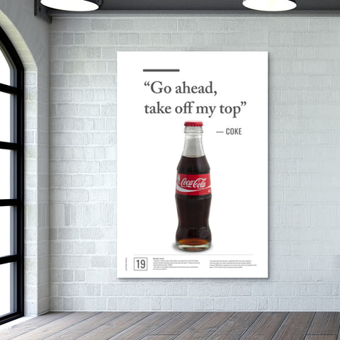 Junk Seduction_COKE Giant Poster | Artist : Scatterred Partikles