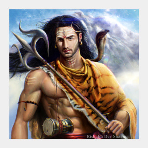 Square Art Prints, Lord Shiva Square Art Prints | Artist : RishabhDev Sharma, - PosterGully