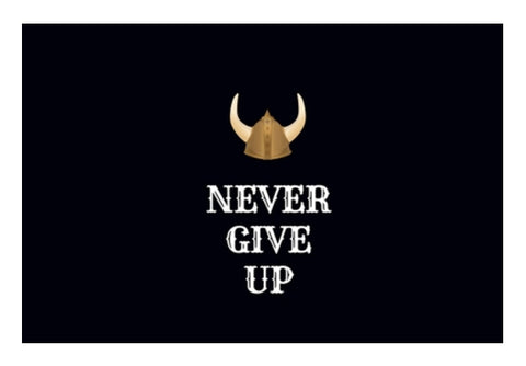 Never Give Up Wall Art  | Artist : Pallavi Rawal
