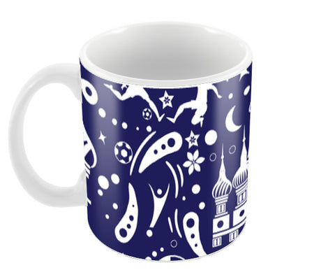 Russia Abstract Art Blue | #Footballfan Coffee Mugs | Artist : Creative DJ