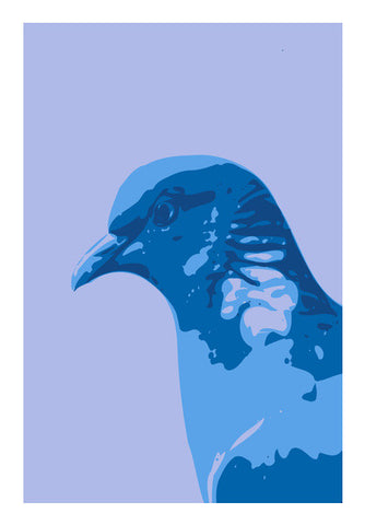 Wall Art, Abstract Pigeon Blue Wall Art |Artist : Keshava Shukla, - PosterGully