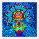 psychedelica Square Art Prints | Artist : Malay Jain