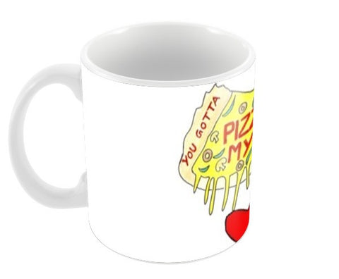 Pizza Love Coffee Mugs | Artist : Ajooni Singh