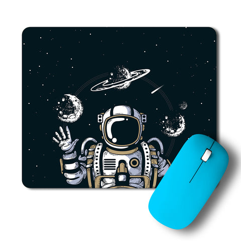 Astronaut In Space Artwork Mousepad