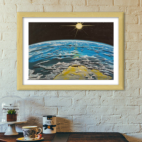 Space Painting Premium Italian Wooden Frames | Artist : Anshul Patria
