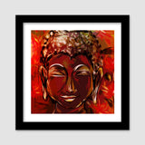 BUDDHA Buddhism teaches people that the real source of happiness is inner peace Premium Square Italian Wooden Frames | Artist : amit kumar