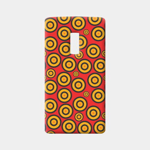 Retro Circle Abstract Design One Plus Two Cases | Artist : Designerchennai