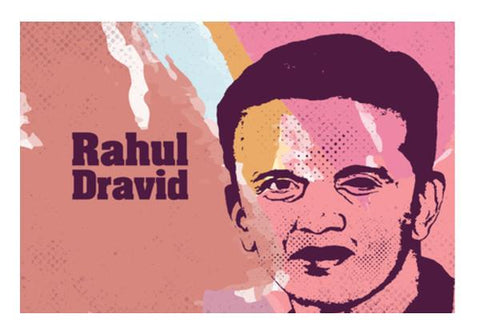 PosterGully Specials, Rahul Dravid Wall Art  | Artist : Designerchennai, - PosterGully