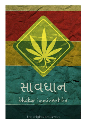 Wall Art, Caution, Weed Ahead Wall Art | Rishabh Bhargava, - PosterGully