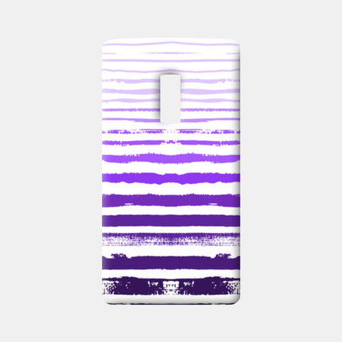 Uneven Purple Stripes One Plus Two Cases | Artist : Amantrika Saraogi