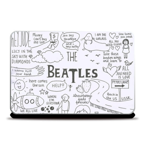 The Beatles laptop skin Laptop Skins | Artist : Anjali Nilakantan