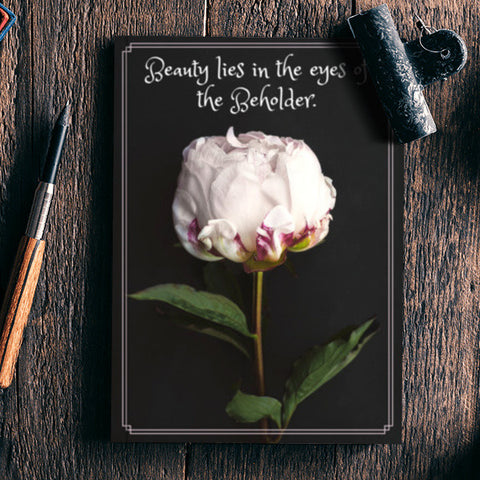 Beauty Lies In The Eyes Of The Beholder Quote Notebook Artist