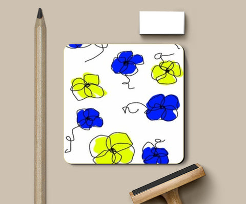 Coasters, abstract floral Coasters | Artist : Rutubala Bhogshetti, - PosterGully