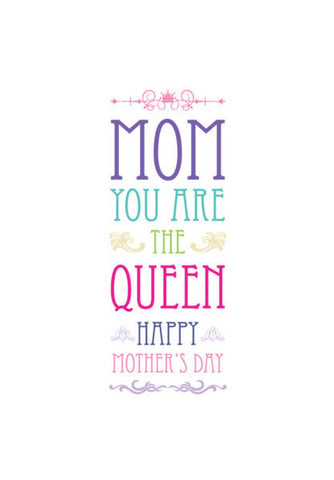 The Queen Mother's Day Typography Art PosterGully Specials