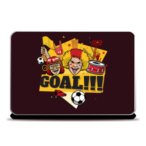 Goal Fun Love Football | #Footballfan Laptop Skins | Artist : Creative DJ