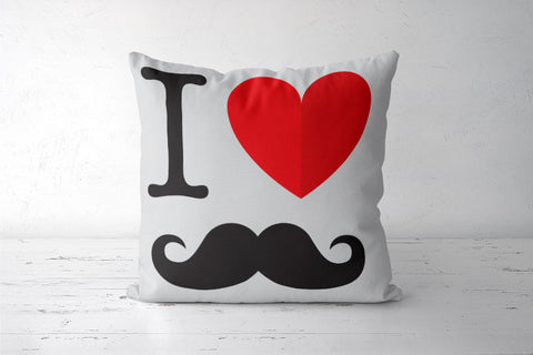 Moustache Love Cushion Cover | Artist: Pratyusha Subramaniam