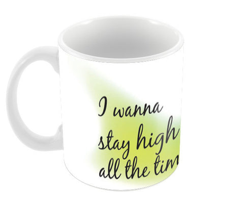 Stay High Coffee Mugs | Artist : Vidhisha Kedia
