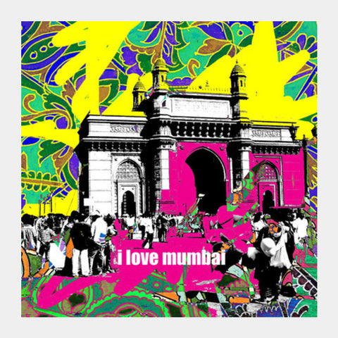 Square Art Prints, i love mumbai Square Art Prints | Artist : Pradeesh K, - PosterGully