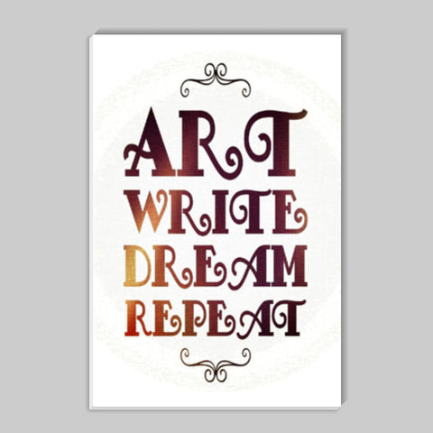 Art Write Dream Repeat | Typography | Quote Stick Ons | Artist : Nandini Rawat
