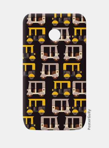 Auto rickshaw seamless illustration Moto E Cases | Artist : Designerchennai