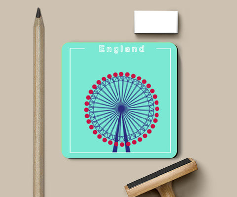 The London Eye - England Coasters | Artist : safira mumtaz
