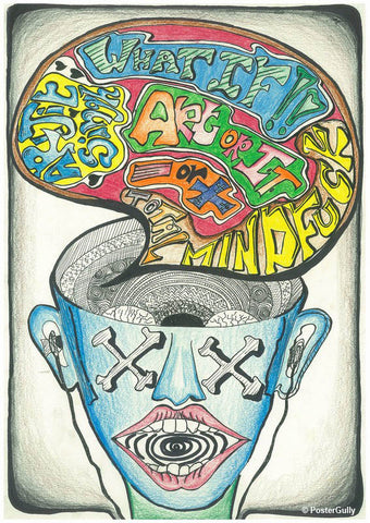 Brand New Designs, Brain Mash Artwork | Artist: Prajakta Kavthekar, - PosterGully - 1
