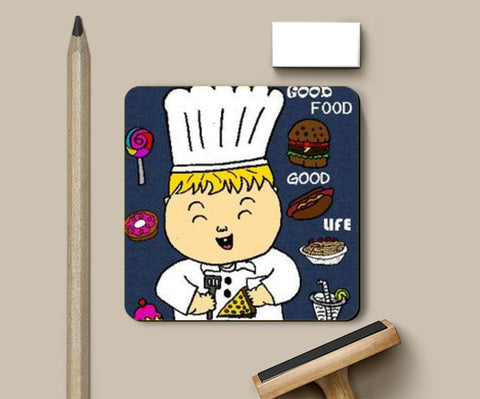 Coasters, GOOD FOOD IS GOOD LIFE Coaster | Aishwarya Menon, - PosterGully