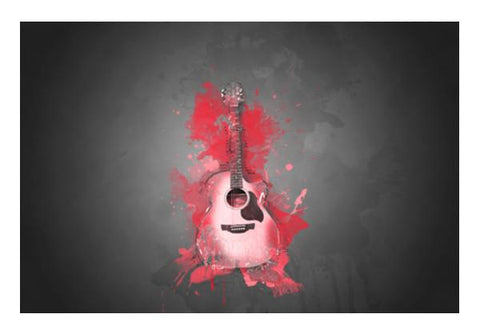 PosterGully Specials, Guitar Splash – Red Wall Art  | Artist : Darshan Gajara's Artwork, - PosterGully