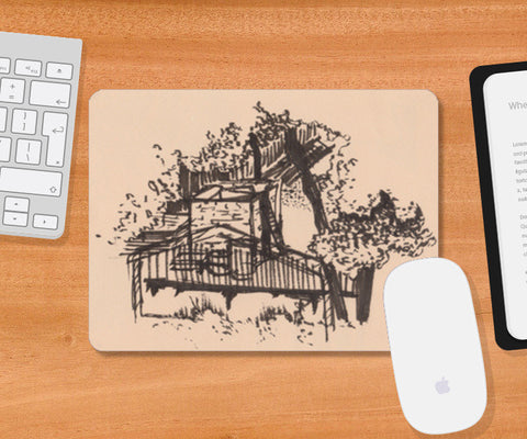 Behind the Trees Mousepad | Artist : Shalini Upadhyay