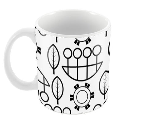 Black and white design vector pattern Coffee Mugs | Artist : Designerchennai