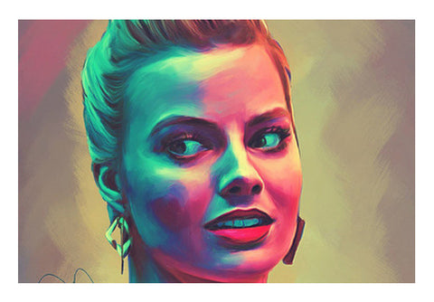 Margot Robbie Wall Art  | Artist : Delusion