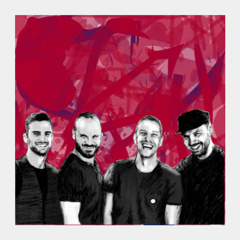 COLDPLAY Square Art Prints | Artist : SREY