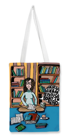 There will never be enough books Tote Bags | Artist : Priyanka Paul