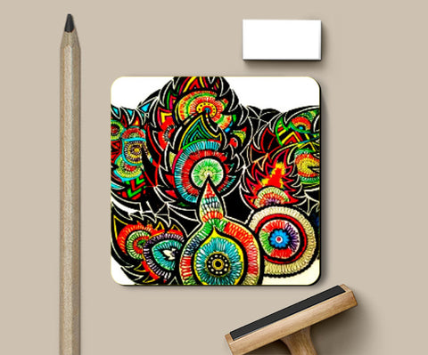Coasters, Scribbles Coaster | Artist: Awanika Anand, - PosterGully