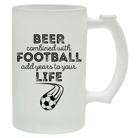 Beer Combined With Football Add Years To Your Life  Beer Mug | #Footballfan